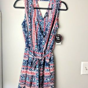 NWT BeBop Romper Medium Plunging V Neck Milticolor